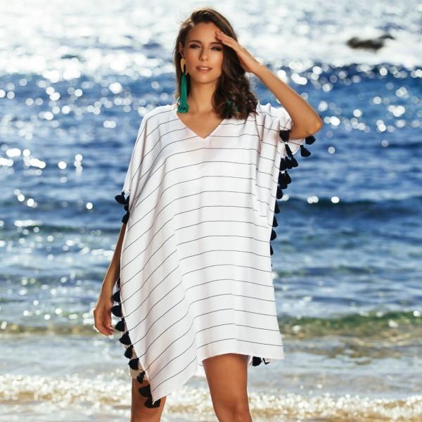 Туника женская пляжная белая Seafolly