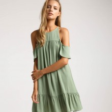Оливковое пляжное платье