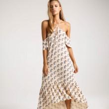 Платье макси с узором пейсли