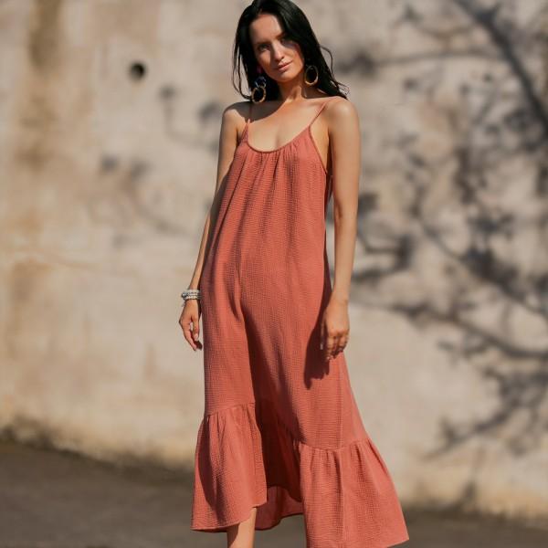 Пляжное платье макси