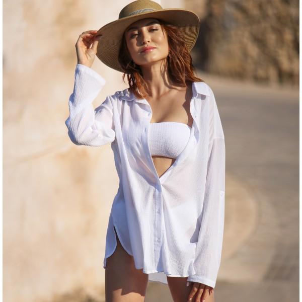 Белая туника для пляжа
