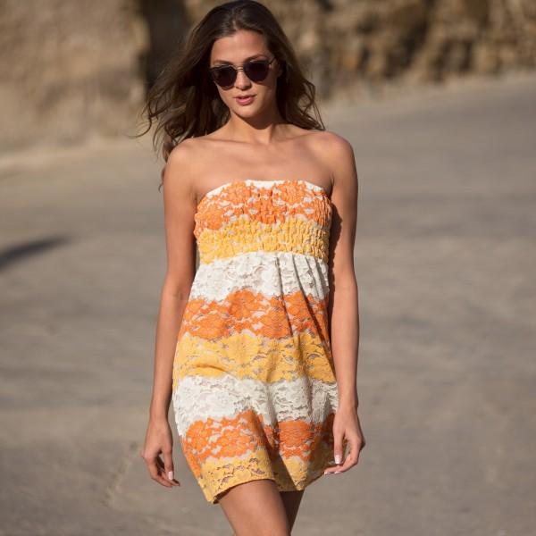 Пляжное платье бандо